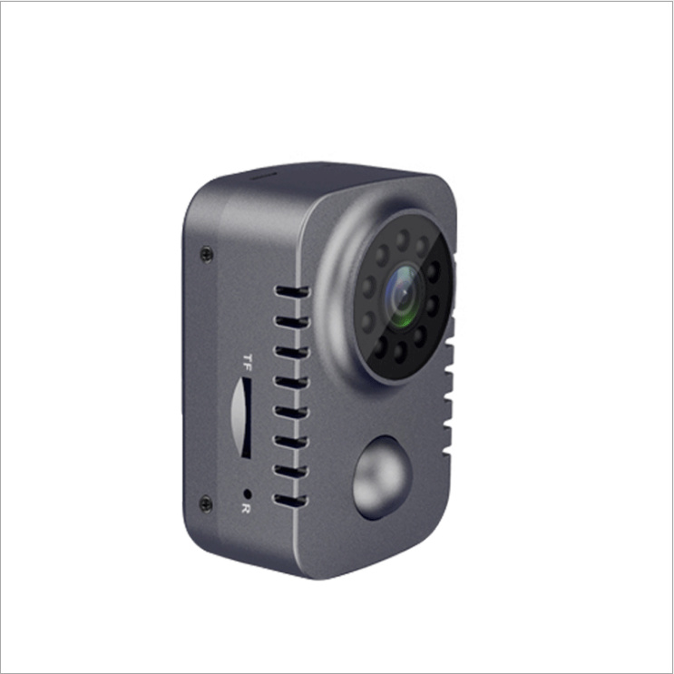 HD Mini Wireless Camera 1080p Security Pocket Cameras Motion Activated Small Nanny Cam For Cars Standby PIR Webcam gray