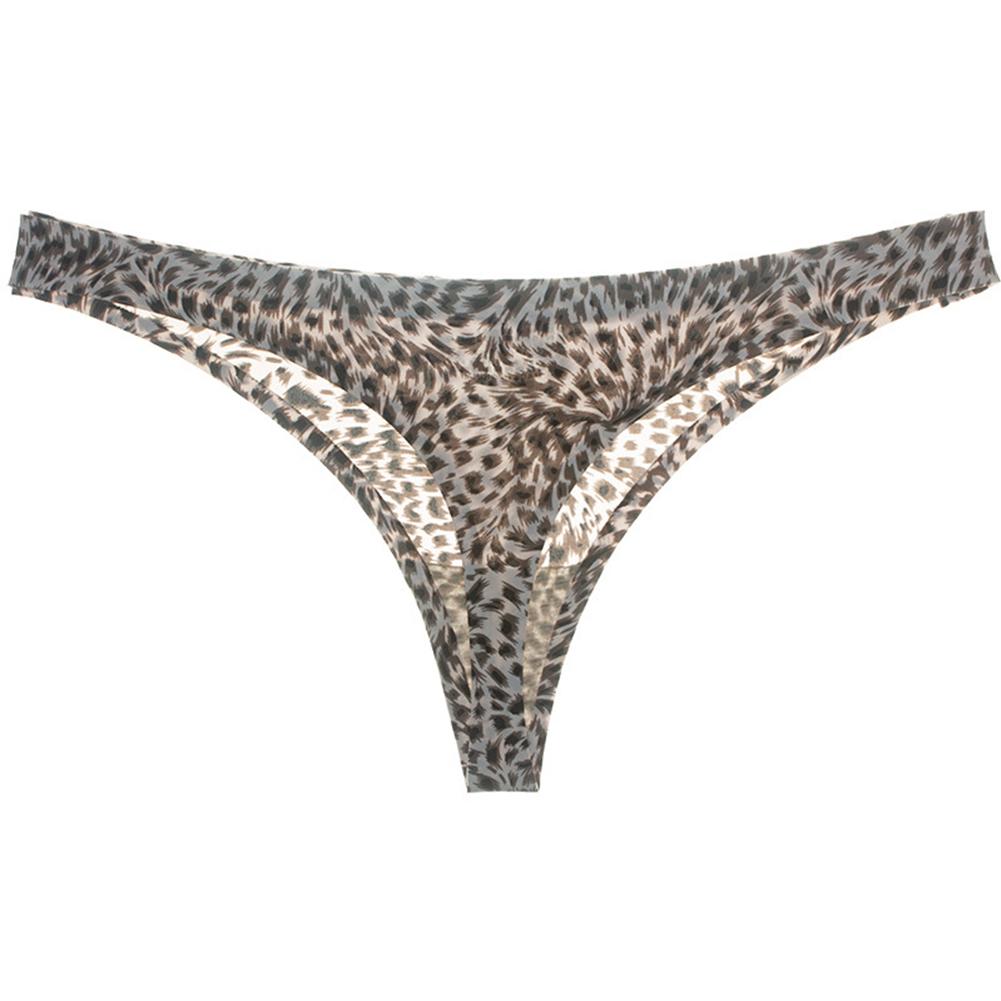 Women Sexy Underpants Underwear Hollow Cotton Underpants Waist Girls Low Bikini Women's Underwear Comfortable Underpants snow leopard_M
