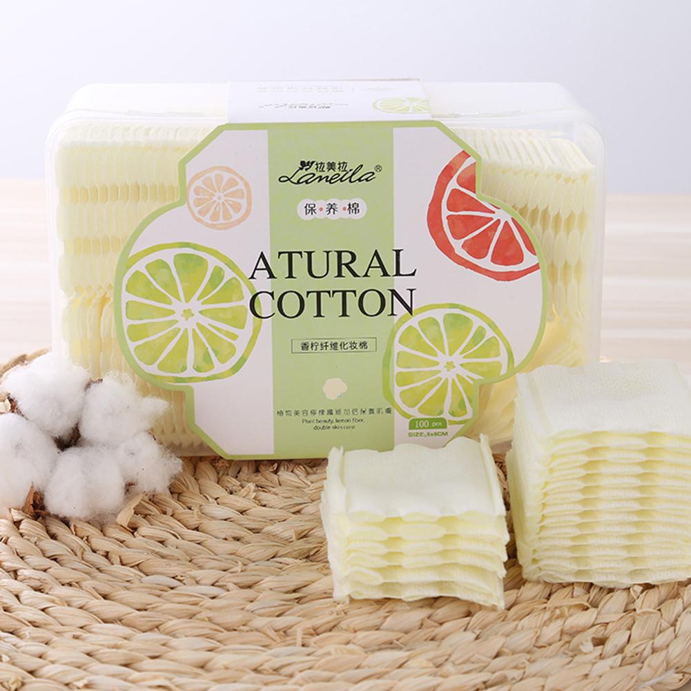 100 Pcs Makeup Sponge Face Soft Cleansing Remover Cotton Face Skin Care Tool