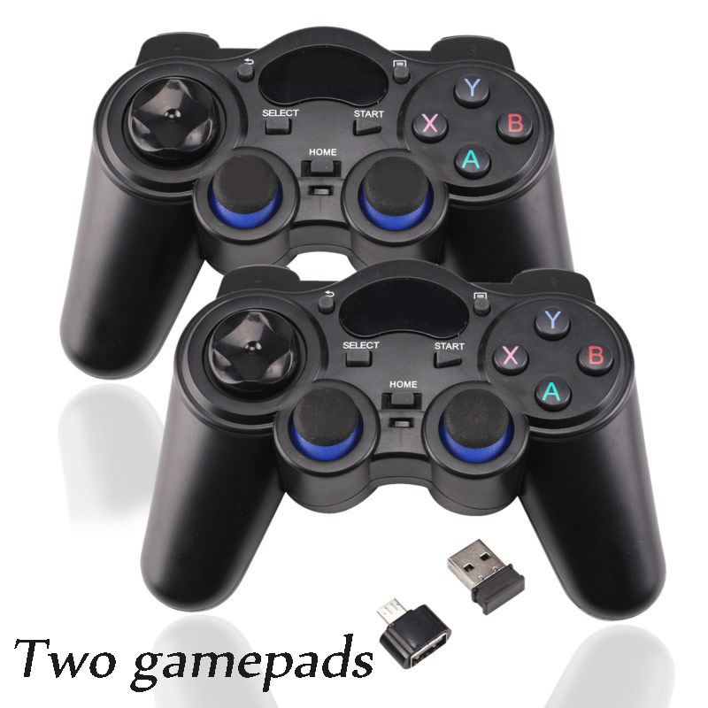 2pcs/pair 2.4g Wireless Android Gamepads Gamepad Game Console Controller black
