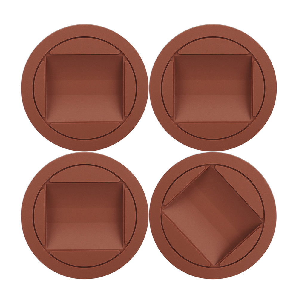 4 Pcs Piano Rubber Caster Cups Mat for Upright Grand Piano Accessories(Opp) red