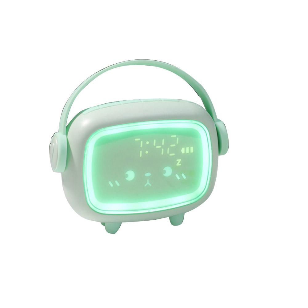 Led Alarm  Clock Charging Clock Multi-function Led Night Light Digital Alarm Clock Ordinary Style-Mint Green