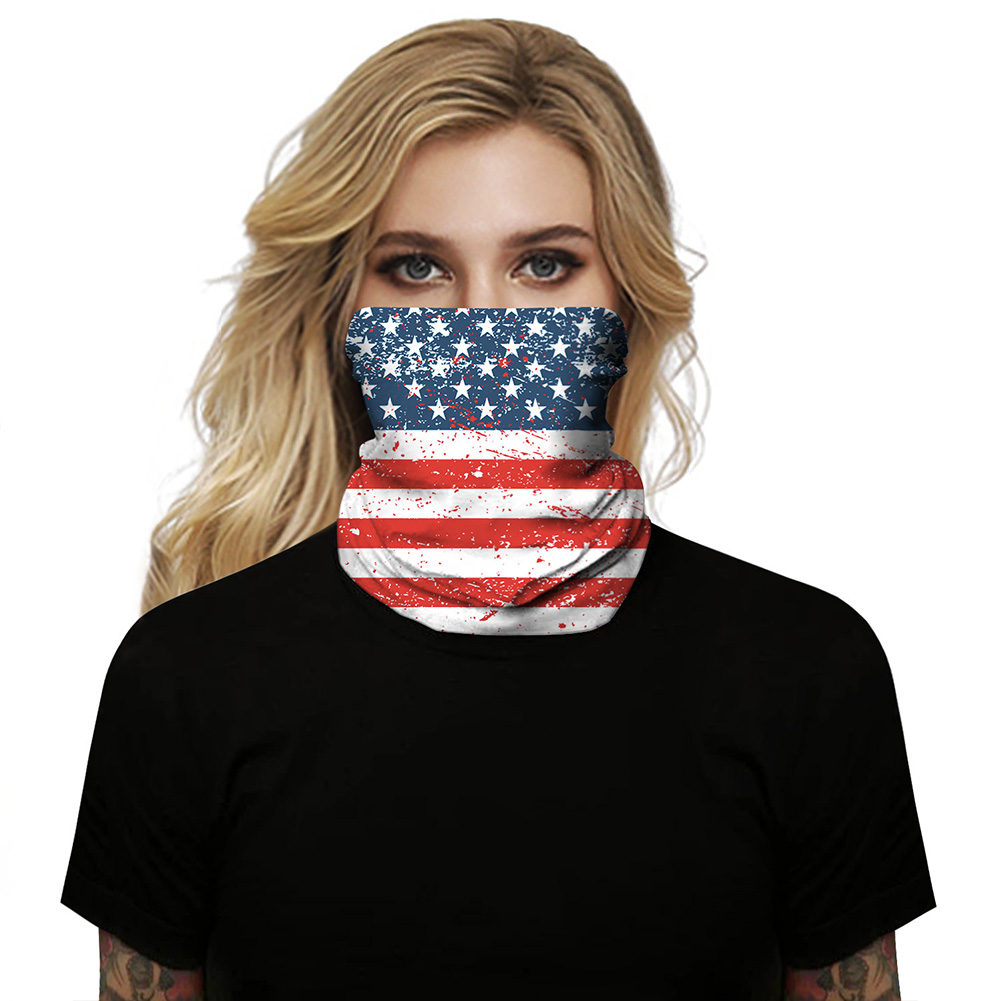 Festival Mask Multi-functional Neck Scarf 3d Digital Print National Flag Outdoor Cycling Hanging Ear Bug Mask BXHA048_One size