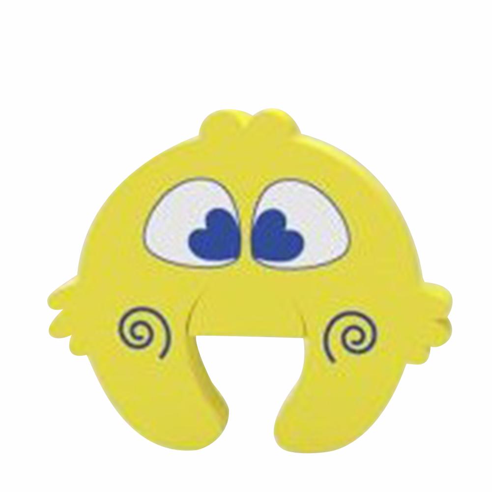 3 Pcs/set Baby Safety Door Card Cartoon Shape Anti-pinch Door Stop Door Resistance Protection Supplies Yellow bird_3 pcs