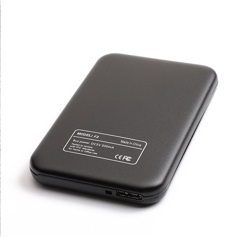 Aluminum Alloy USB 3.0 to SATA External Hard Drive Disk Enclosure 500G 1T 2T for EXFAT WIN Stystem black