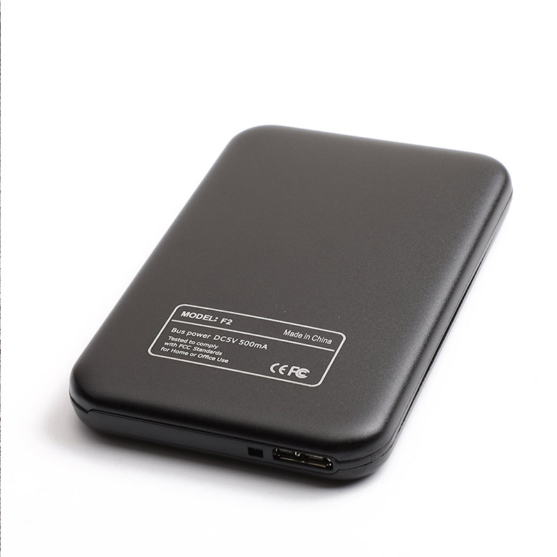 Aluminum Alloy USB 3.0 to SATA External Hard Drive Disk Enclosure 500G 1T 2T for EXFAT WIN Stystem black
