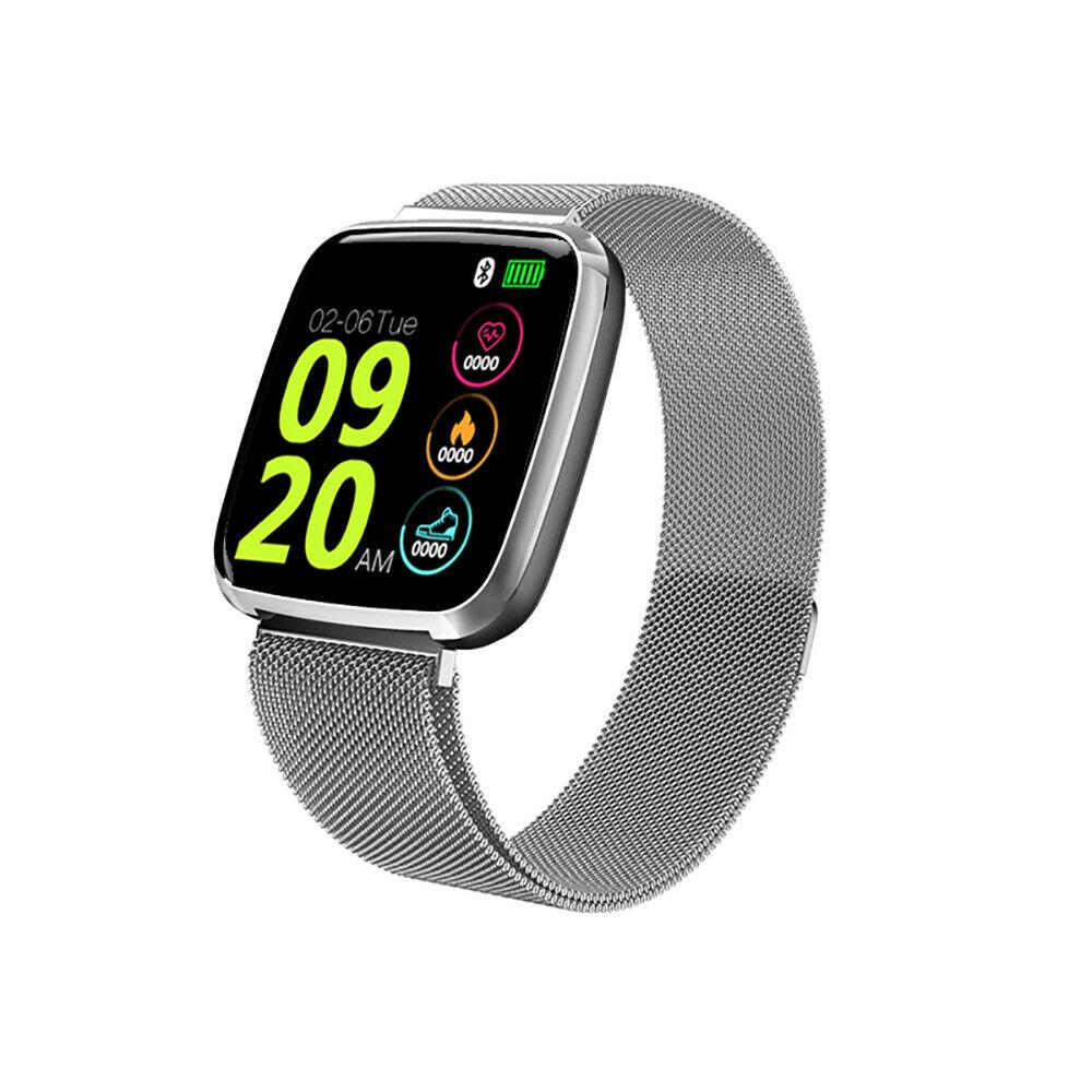 S7 Smart Watch Color Screen Sleep Heart Rate Monitor Sport Fitness Tracker Steel Silver