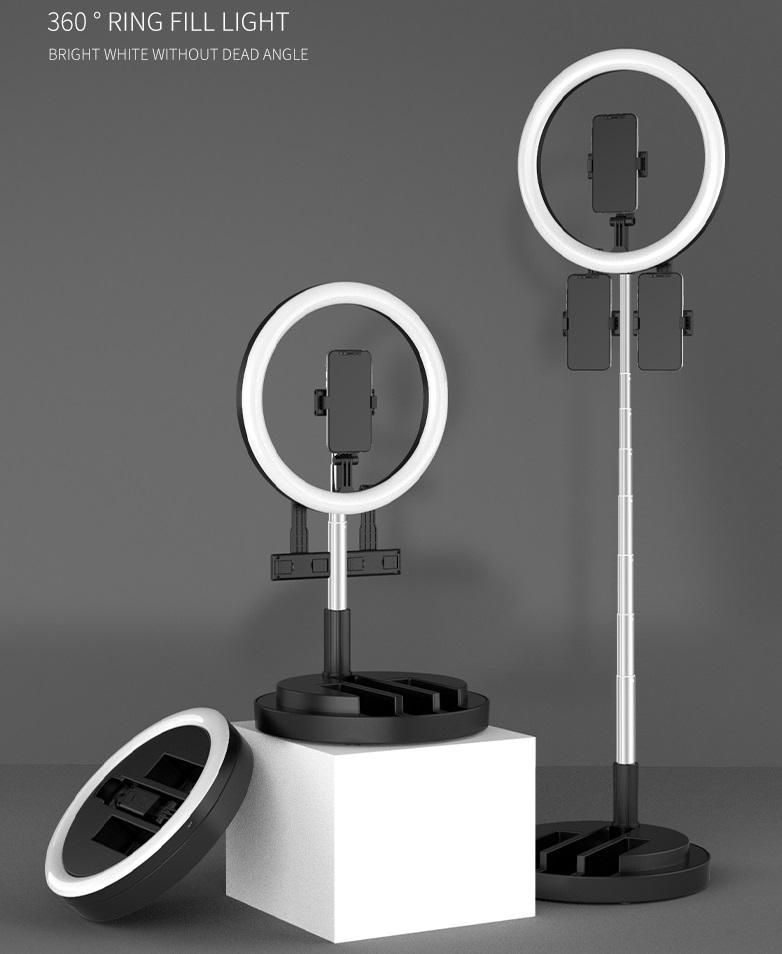 29CM Fill Light Foldable Retractable Portable Lighting Lamp black