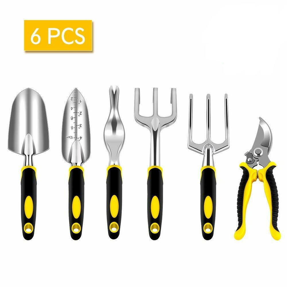 6pcs/set Garden  Tools Set Cast Aluminum Heavy-duty Gardening Kit 6-piece set