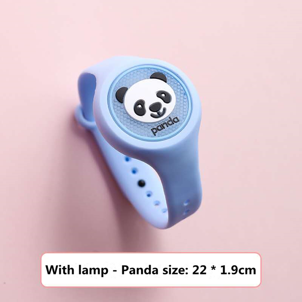 Indoor Cartoon Anti Mosquito Repellent Bracelets Baby Infant Children Luminous Hand Ring panda