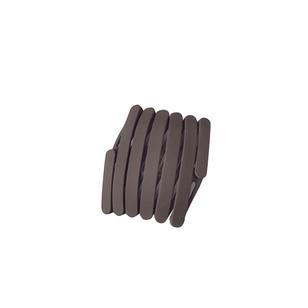 Retractable  Headbands Simple Versatile Non-slip Pressure Hair Headband Portable Hairpin Headwear 1#Deep coffee