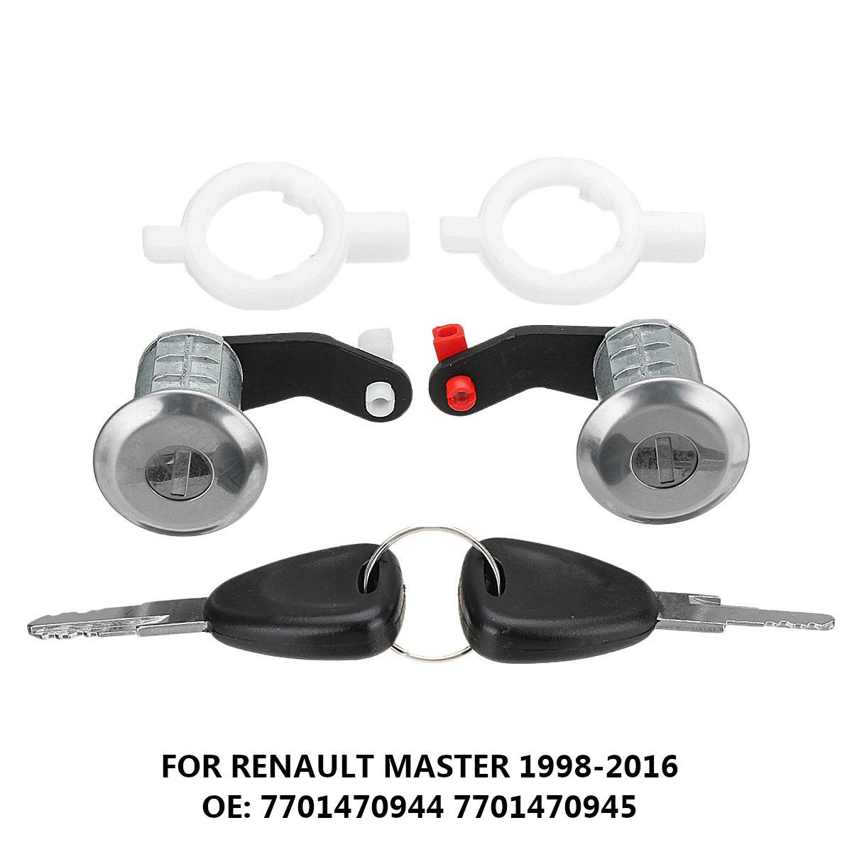 For Renault Master Door Lock Core Barrel Set Lh Rh 2 Keys OE:7701470944 7701470945