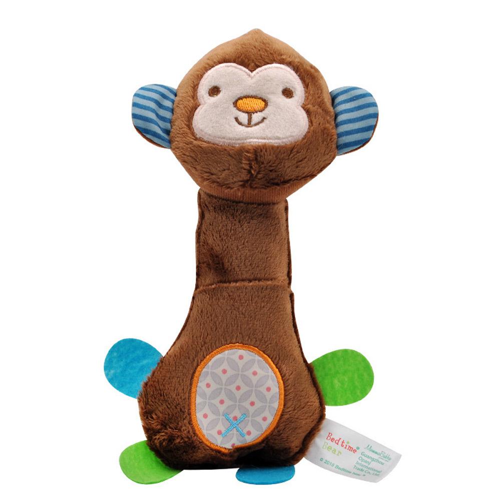 Baby Rattles BB Sticks Plush Doll Crib Bed Hanging Toy for Kids Newborn brown