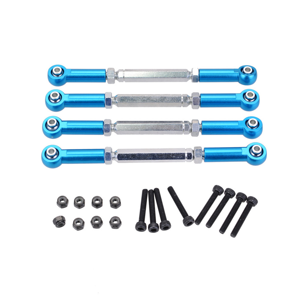 M5 112-130mm Metal Adjustable Link Rod for ZD Racing Hobao JLB HSP HPI Redcat ARRMA KRATON RC Car Truck Buggy Truggy blue