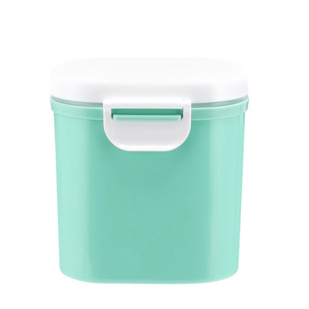Large Capacity Baby Milk Powder Can Airtight Storage Box Barrel L-green