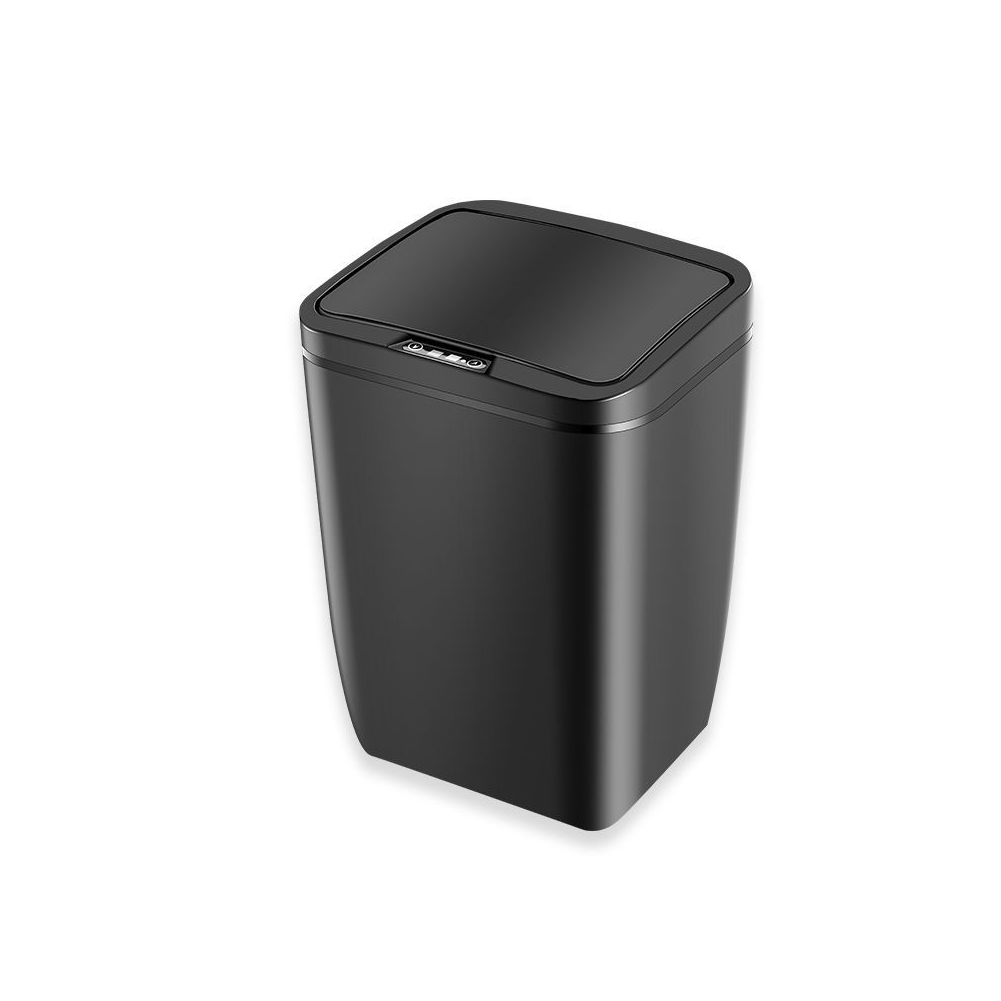 Automatic Intelligent Induction Motion Kitchen Trash Can Home Waste Garbage Bin black