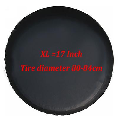 Black Car Spare Wheel Cover for Jeep Kia SUV Tire Storage Bag Practical Accessories 17inch