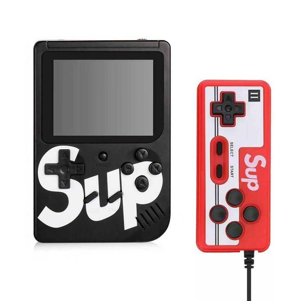 Handheld Game Console Portable Gameboy Box Arcade Classic Video Game Handle Retro Design Black