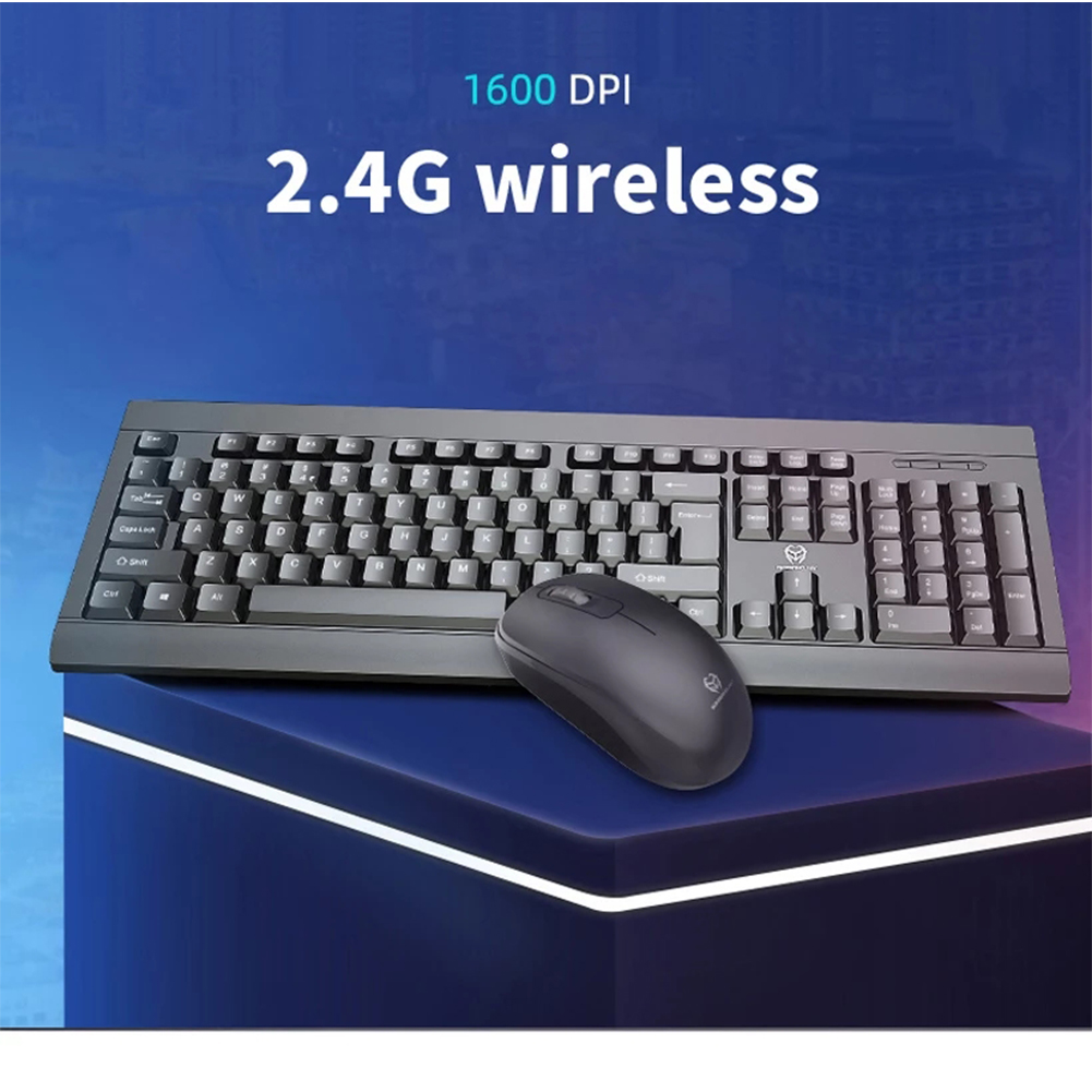 2.4G Wireless Keyboard And Mouse Set Business Office Gaming Wireless Keyboard And Mouse Black