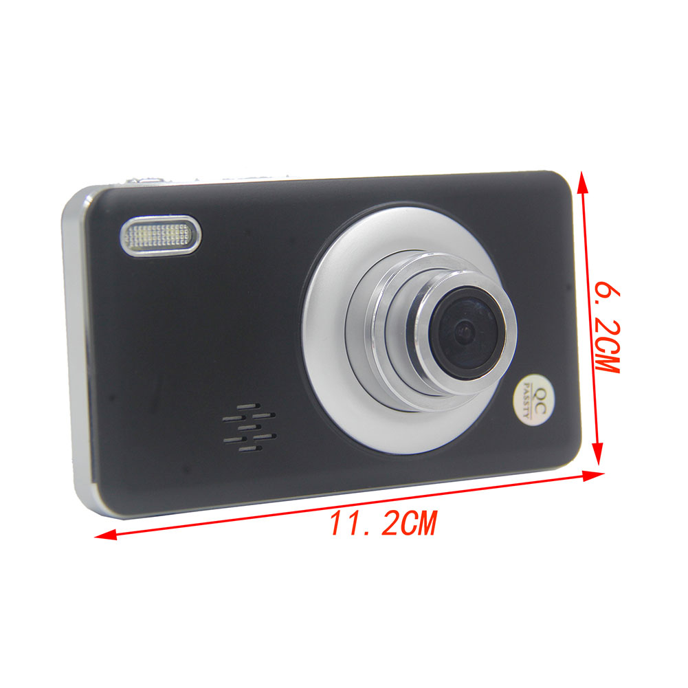Car Recorder 3 Lens 360 Degree Rotation Front Rear Integrated Double 1080p Three-way Camera