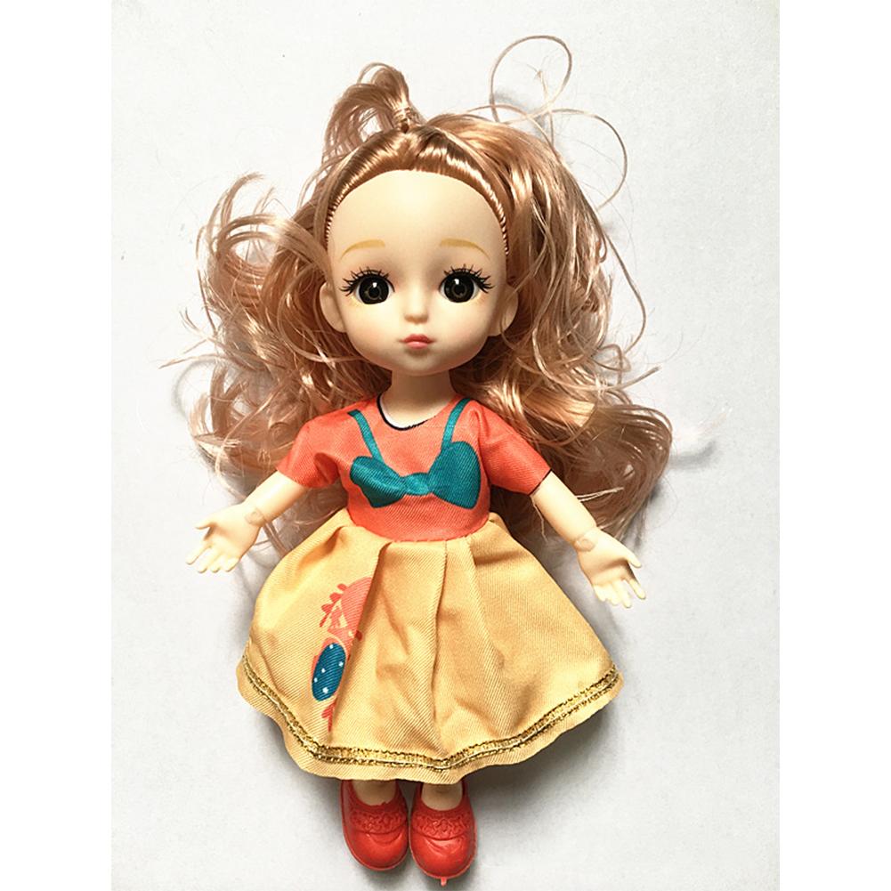 Children  Simulation  Dolls  Toys Fabric 6 Inch 17cm 13 Joint Doll Scene Dolls Girl Toy 6