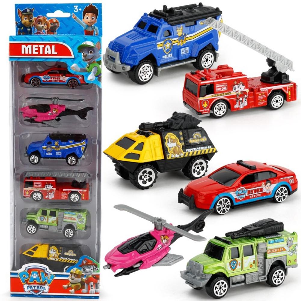 6PCS Wheels Batman Batmobile Patrol Avengers Justice League Car Model Toy Vehicle Diecast Gift Collection Dogs alloy