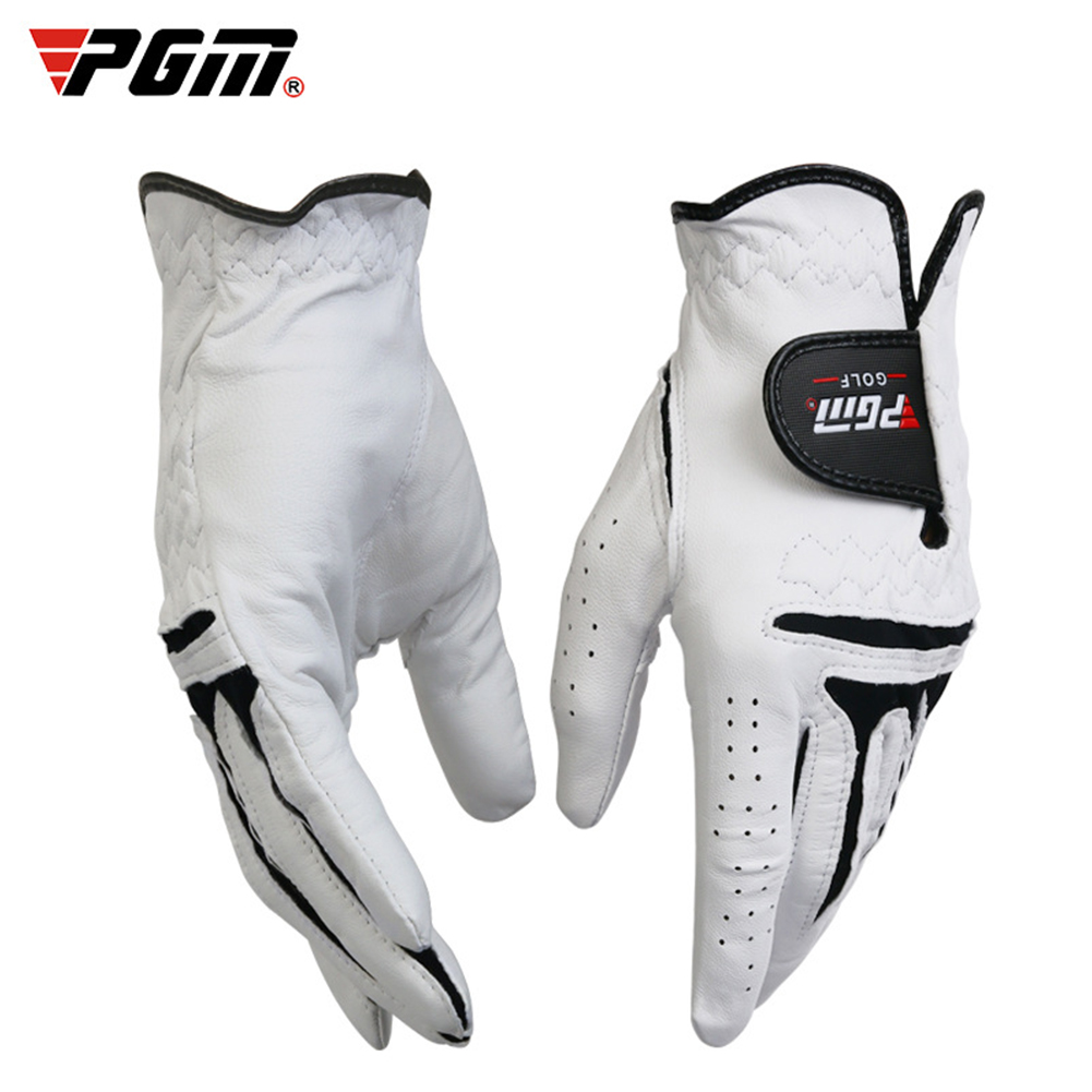 Men's Golf Gloves Breathable Leather Sheepskin Left/Right Hand Anti-skid Glove Left hand 24