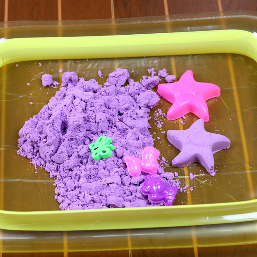 Children's Play Sand Toys Indoor Castle Play Sandbox Inflatable Sand Tray Table Random Color