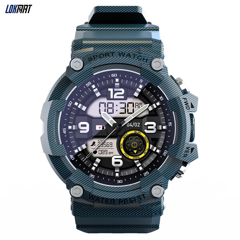 Attack2 2021 Smart Watch 15 Days Battery Life Fitness Tracker Waterproof Men Women Muti-language Smartwatch Blue