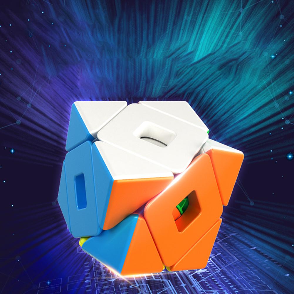 Demon 3x3 Double Oblique Magic Cube Toys for Kids Stress Reliever colors
