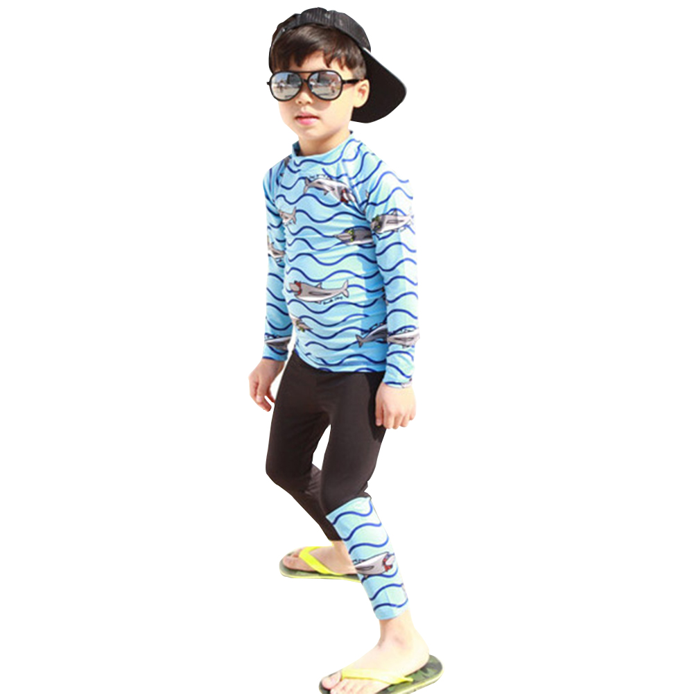 Cartoon Quick Dry Swimming Tops Trousers