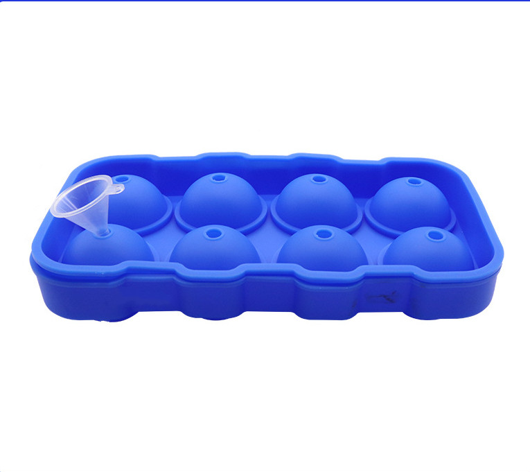 Silicone 8-ball Ice Freeze Mold Ice Ball Tray Frozen Ice Sphere Mold Cube Royal blue