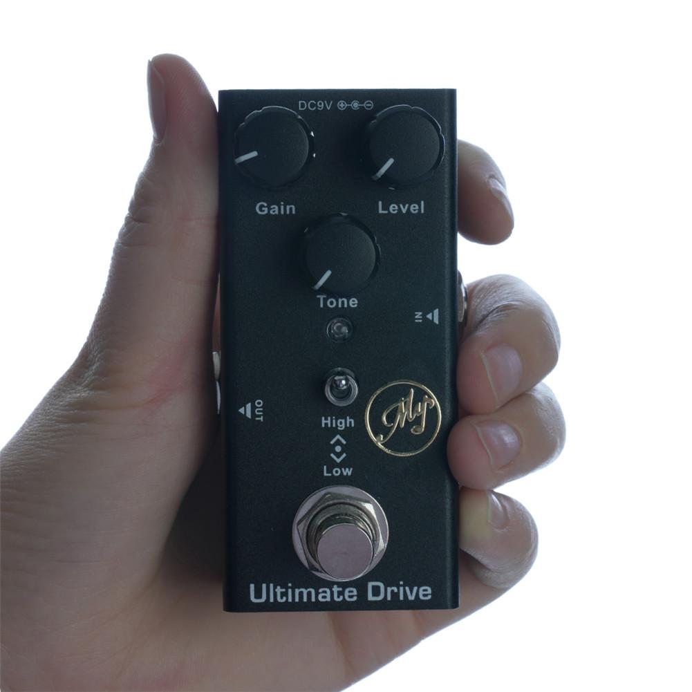 JDF-2 Electric Guitar Effector Extreme Overload Effector with Led Light black