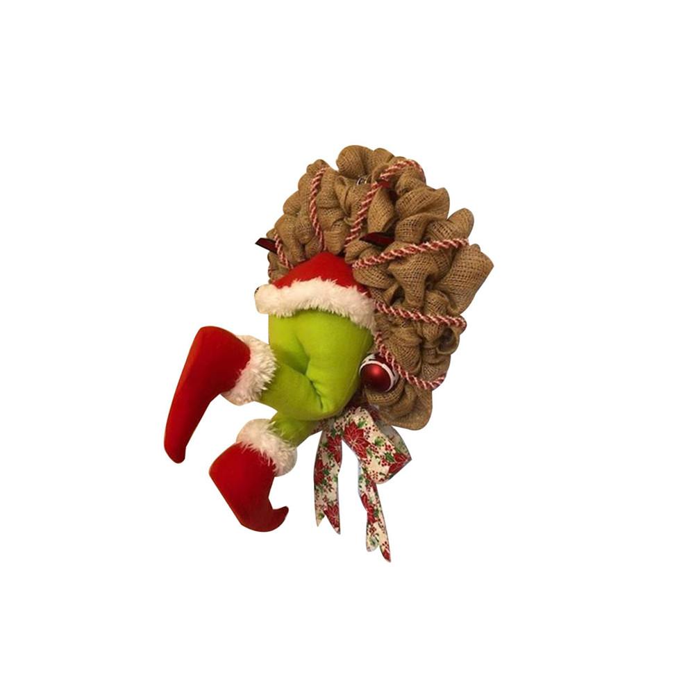 How the Grinch Stole Christmas Burlap Wreath Xmas Thief Stole Santa Garland small