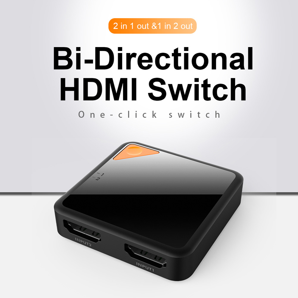 Two-way Switcher for HDMI Adapter ABS Various Specifications Wide Range of Uses black