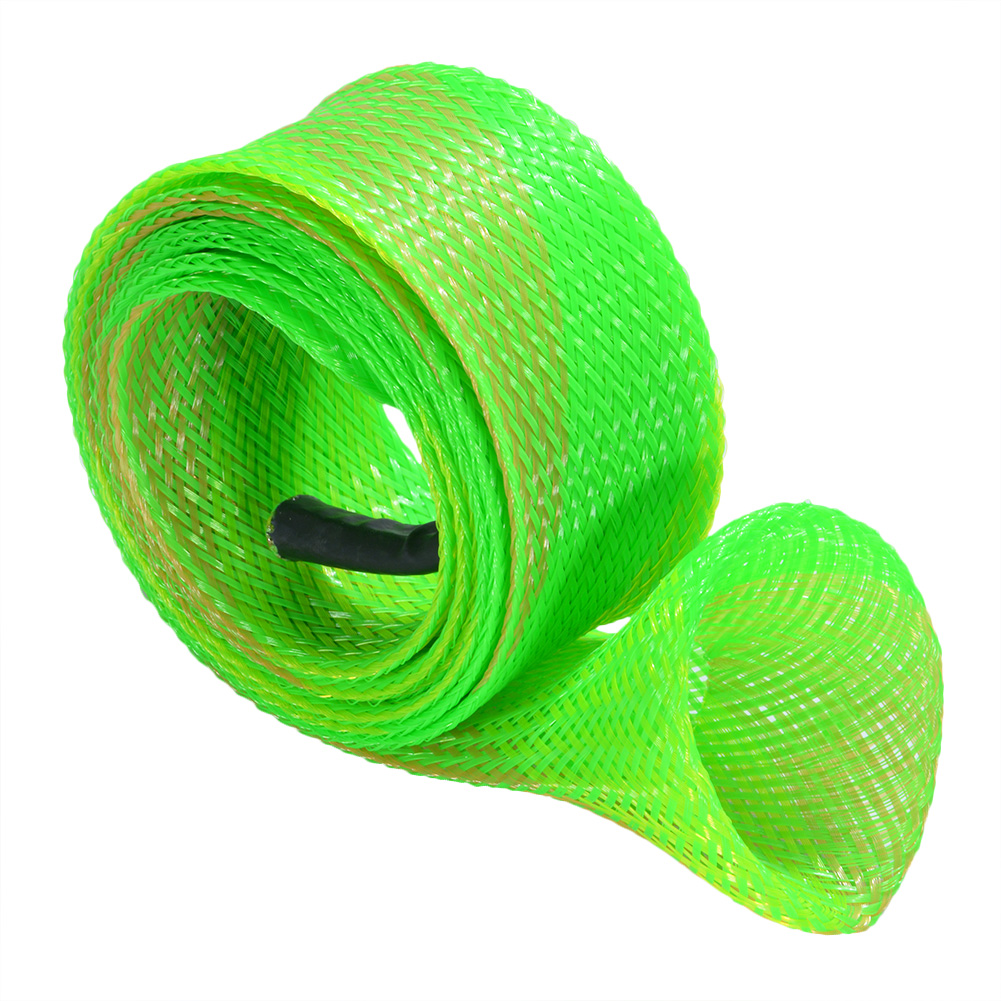 [EU Direct] Expandable Braided PET Fishing Spinning Rod Cover Rod 1.77*66.93inches Protective Gloves