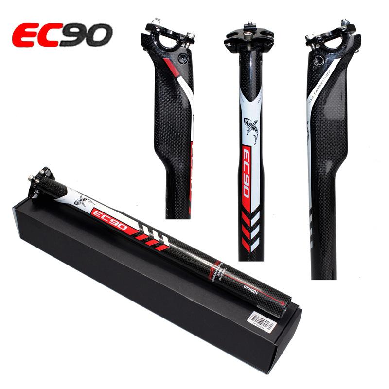 EC90 All Carbon Fiber Road Mountain Bike Seat Tube Bicycle Seat Post black_31.6-350mm