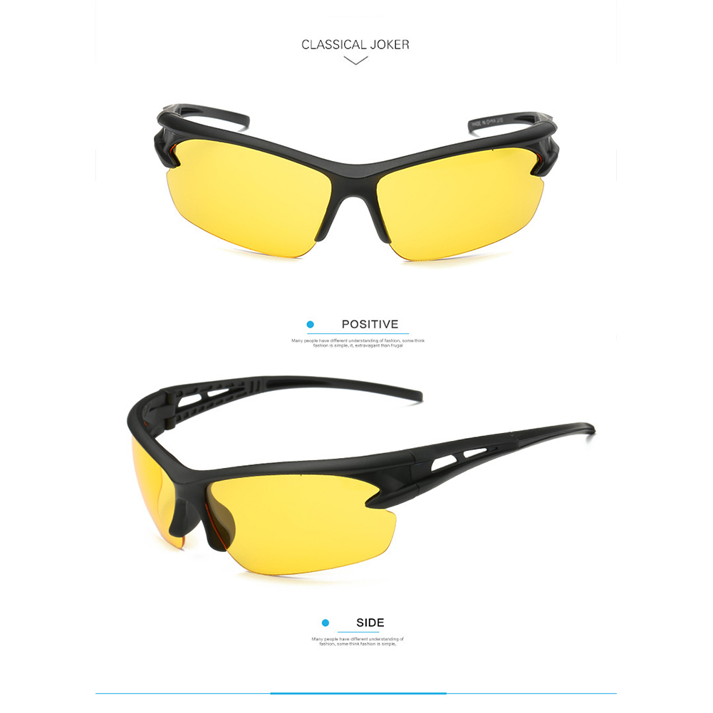 Outdoor  Driving  Glasses Sports Mirror Night Vision Driver Goggles Personality Sunglasses