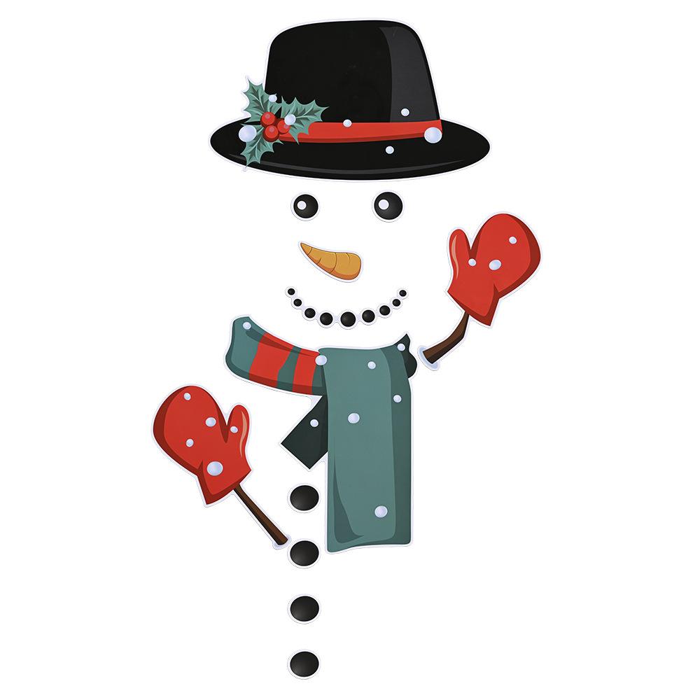 Christmas Refrigerator Decorations Reflective Santa Snowman Magnets Xmas Holiday Garage Fridge Decor