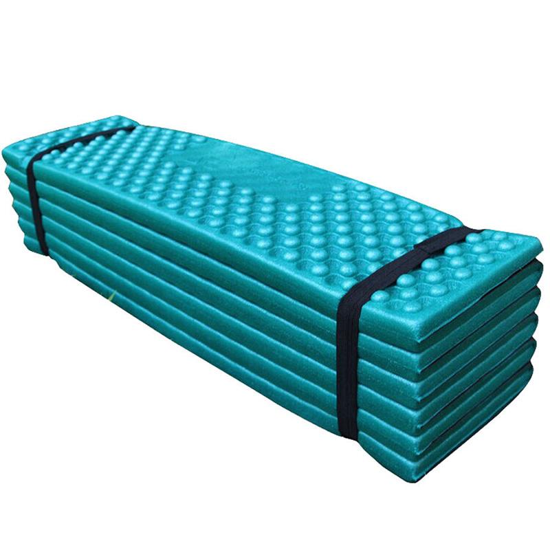 Ultralight Foam Outdoor Camping Mat Easy Folding Beach Tent Sleeping Pad Waterproof Mattress 190 * 57 * 2 cm Dark green_190 * 57 * 2CMOrangeDark greenredblue