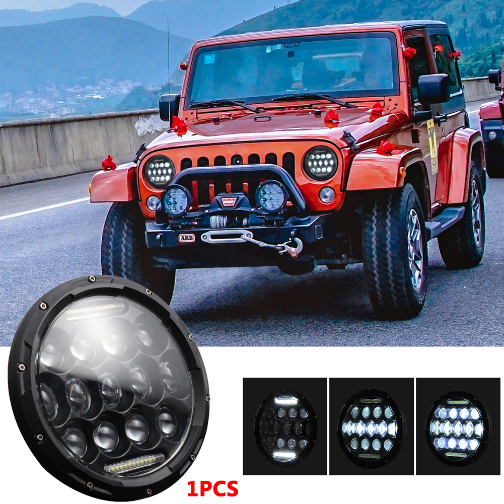 7 INCH 280W LED Headlights 6000K 28000LM Halo Angle Eye For Jeep Wrangler CJ JK LJ 97-17 6000K White