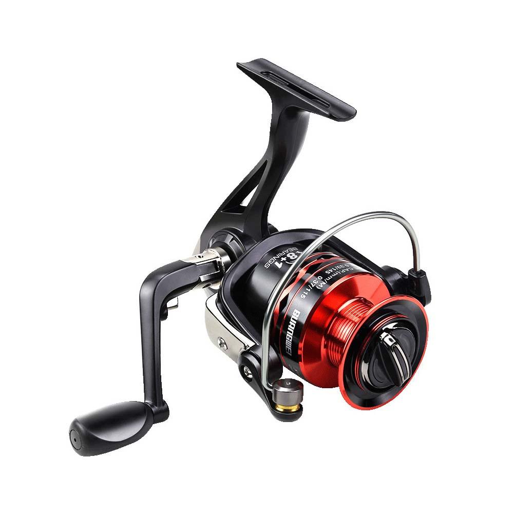 Spinning Fishing Reel Fishing Wheel for Freshwater Saltwater Fishing 3000 5000 6000 Series 3000 Series KXY Cool Black