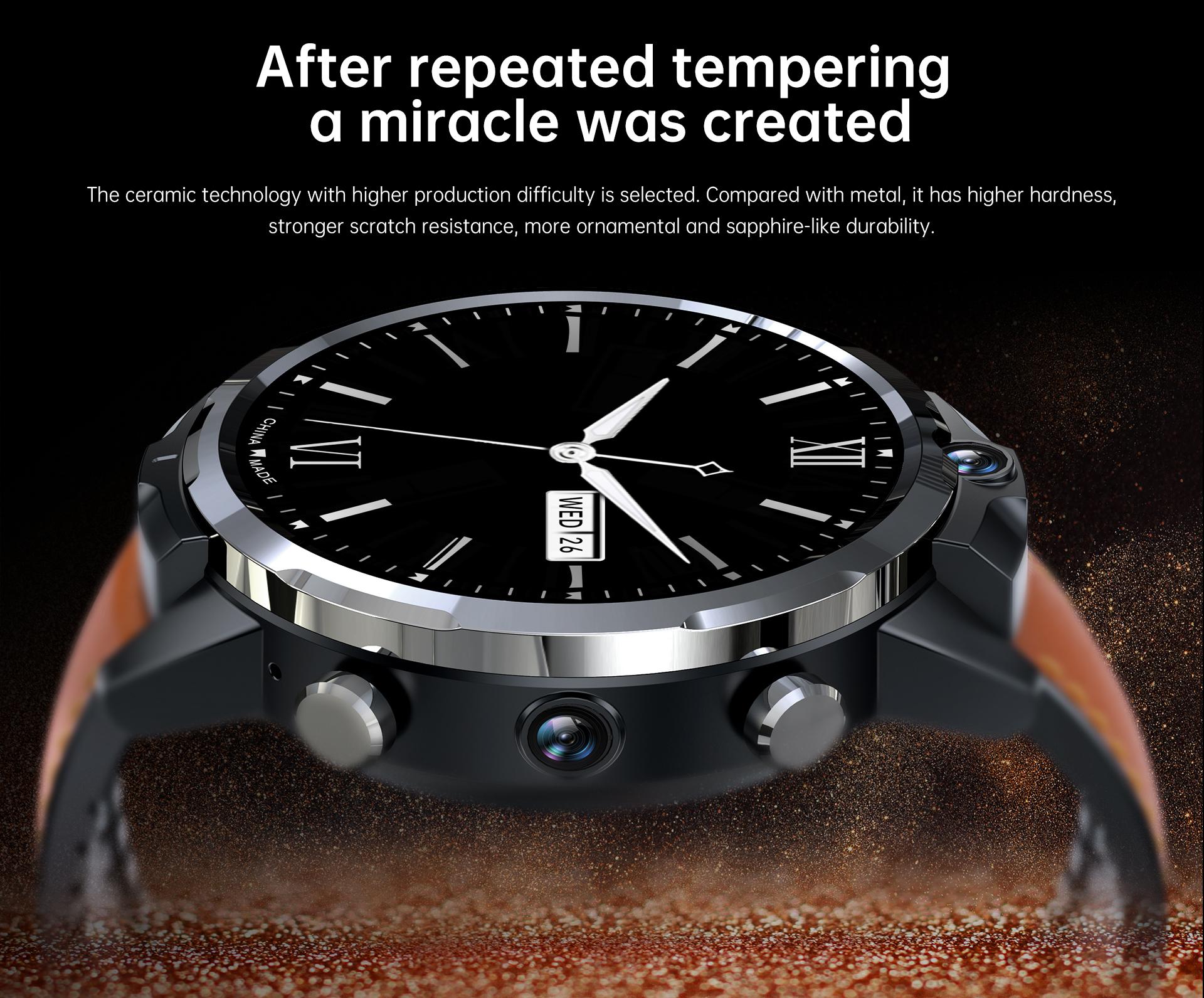 Gt2 Smart Watch 1.6 Inch 3+32gb Hd Screen Face Recognition Ip67 Waterproof Smartwatch Brown