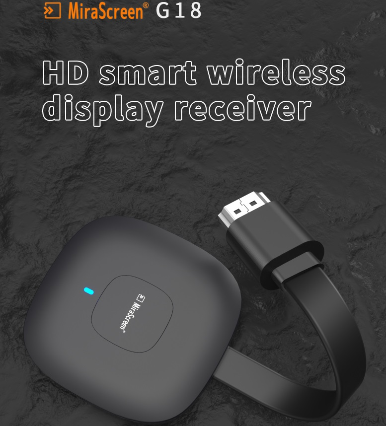G18 Same Screen Device for HDMI Interface AM8272 Chip Support H265 decoding 4K Video Resolution Home Entertainment black