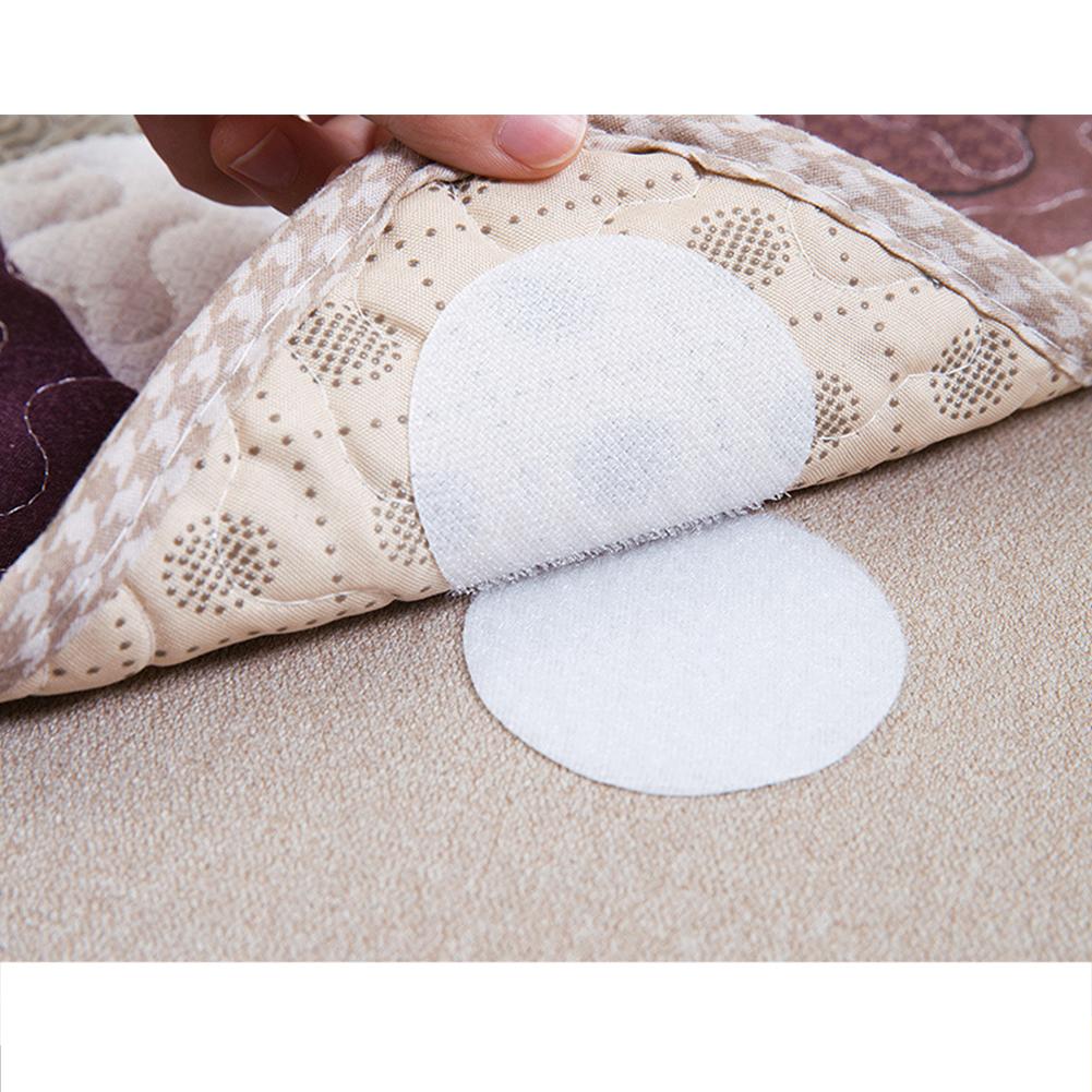 5 pairs Sofa Cushions Sheets Quilts Carpets Household Non-marking Anti-Slip Holder Nylon Fastener Tape Round white