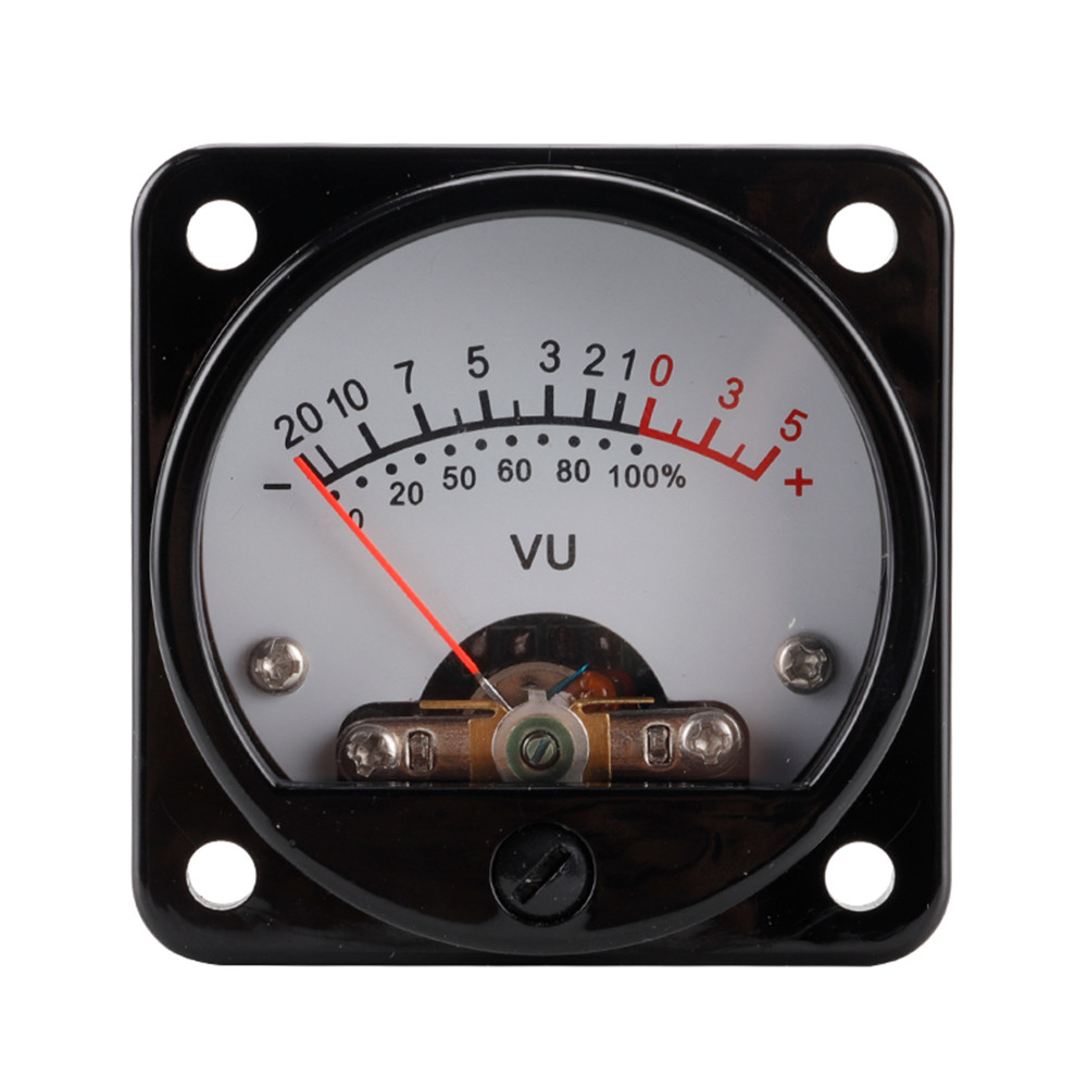 1 Set Vu Meter With Backlight Db Meter Power Meter 45mm Amplifier Volume With Driver Board White background