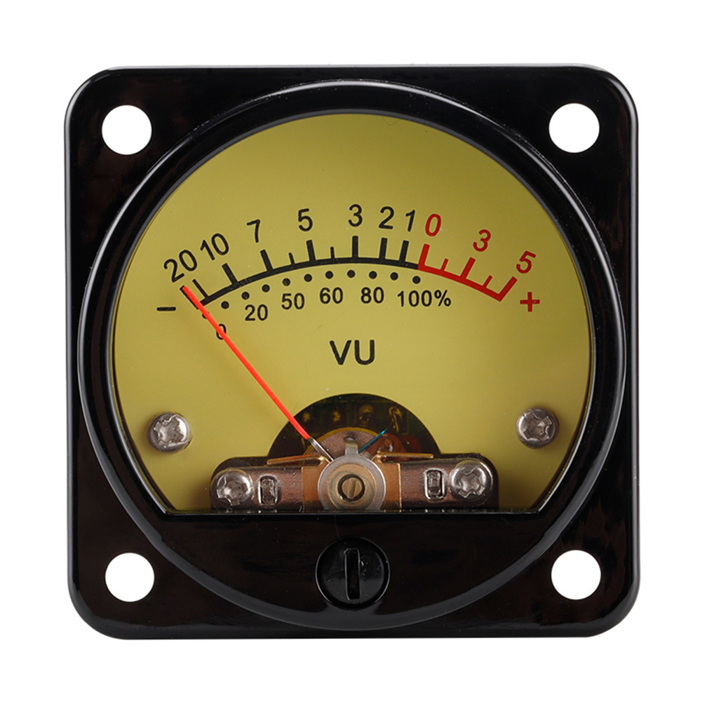 1 Set Vu Meter With Backlight Db Meter Power Meter 45mm Amplifier Volume With Driver Board Yellow background