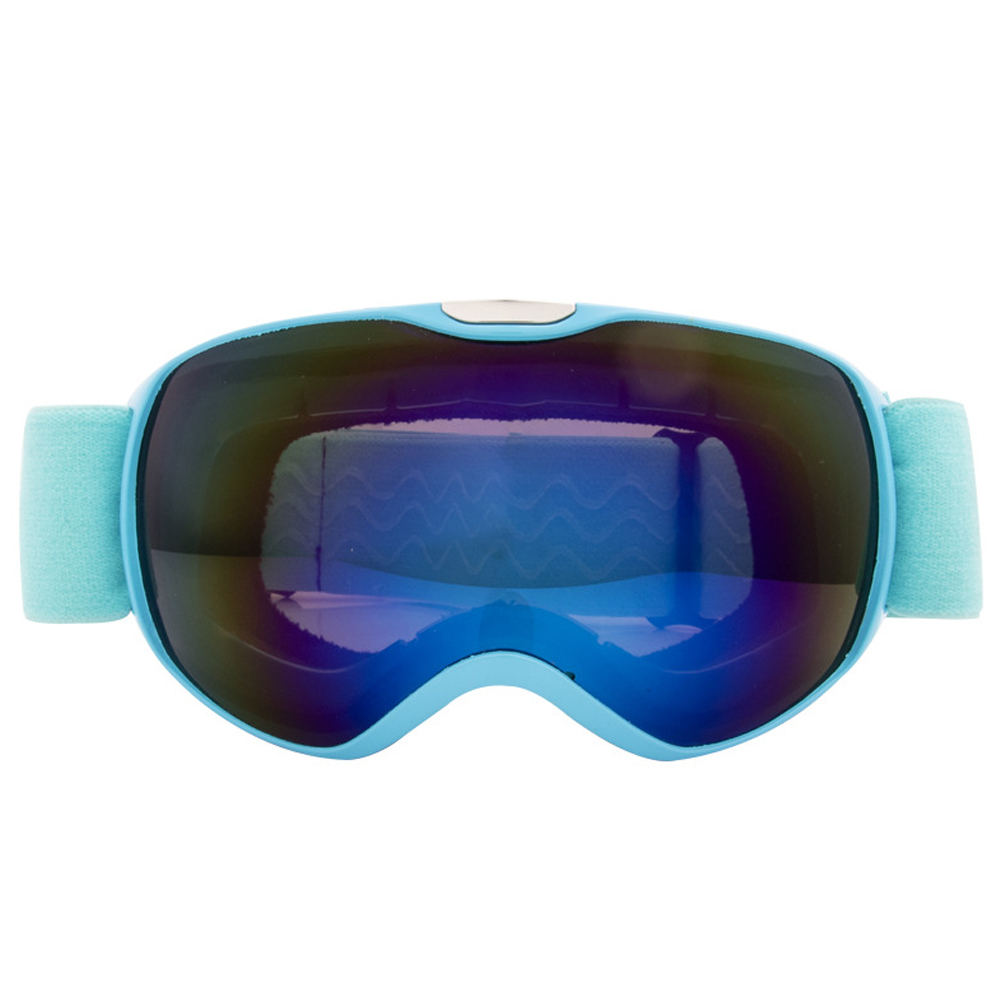 Ski Glasses Spherical Double Anti-fog Goggles Hiking Snow Mirror Windproof Mirror Skiing Supplies for Kids blue