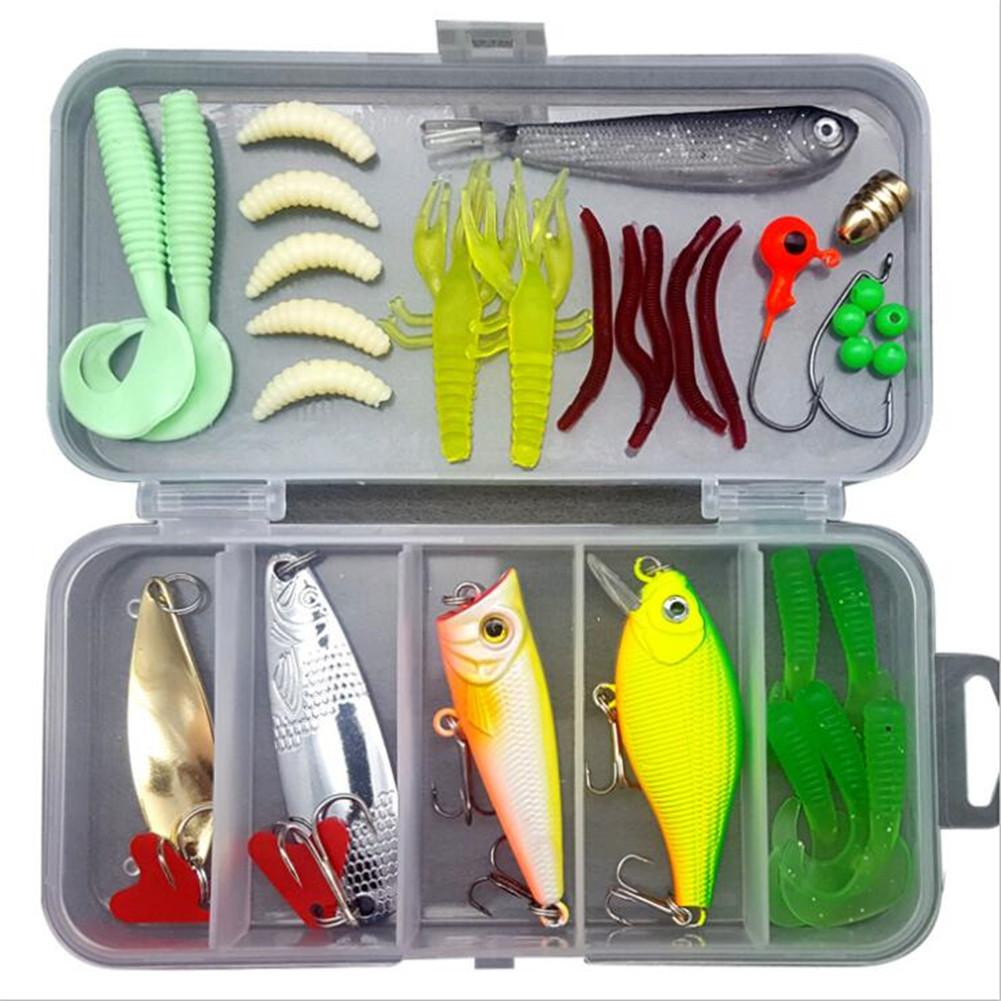 33pcs/set Lure Fish Bait Fishing Gear Accessories Kit 33PCS