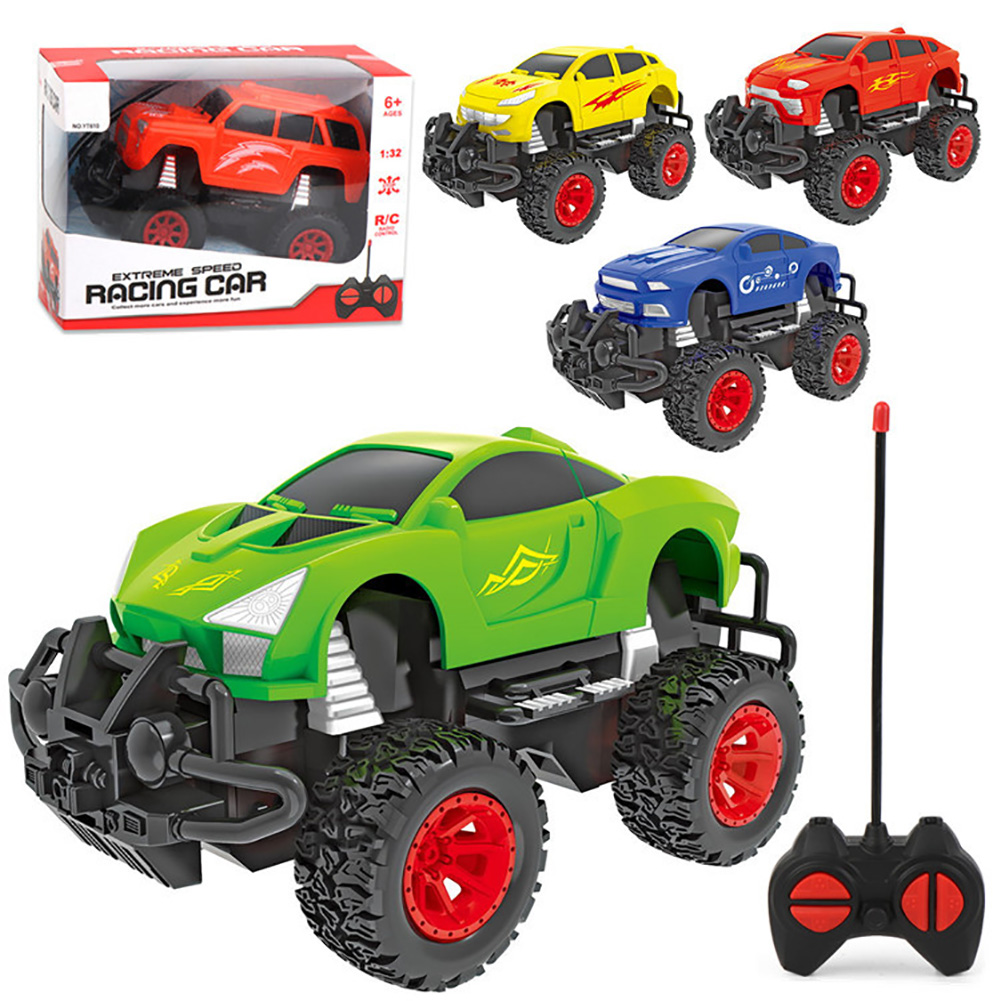 Children Electirc Remote Control Toy Car 1:32 Quattro Wireless Off-road Racer Toy Four-way pickup (random one) color box_1:32